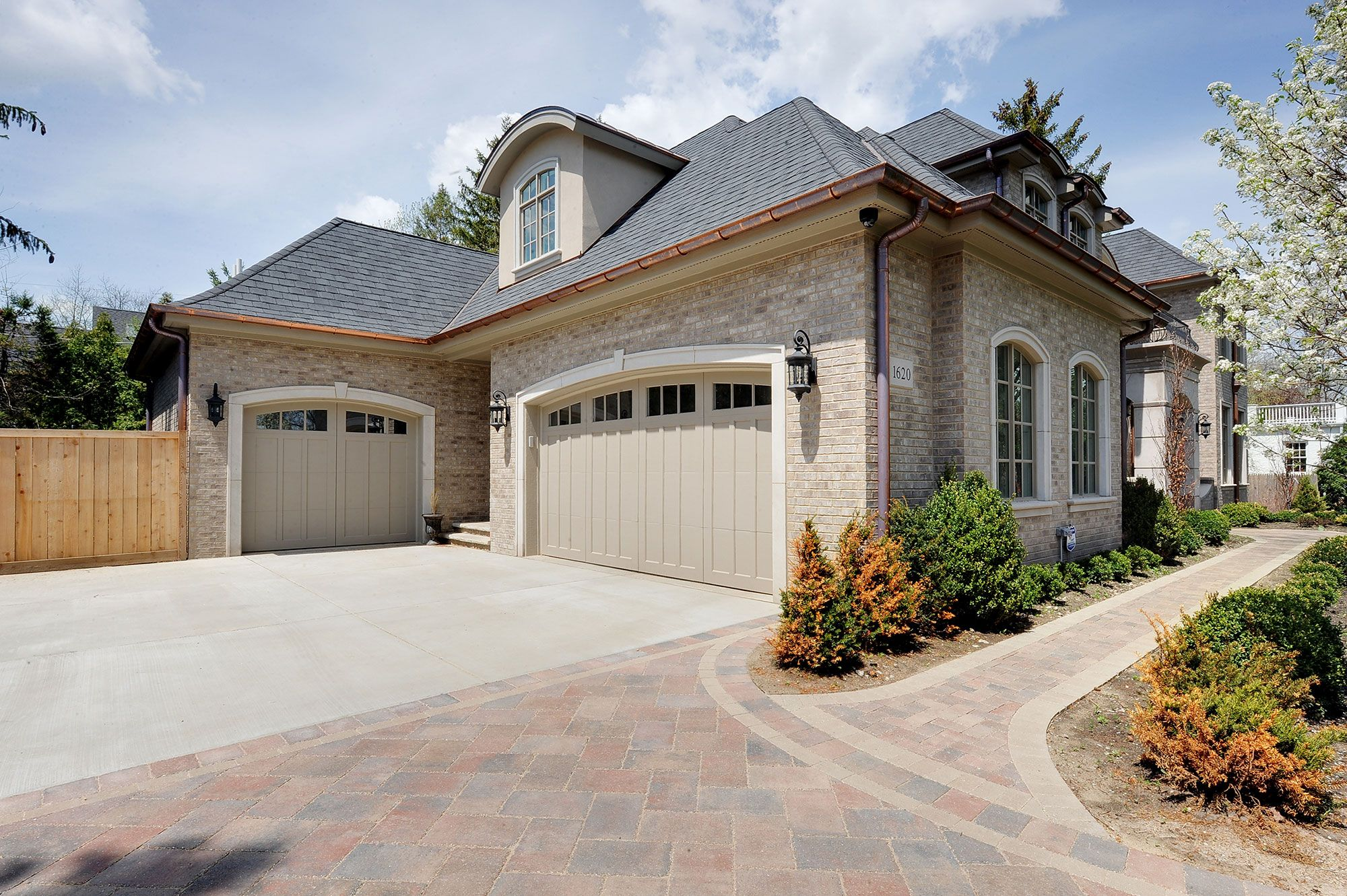 Front Elevation | House-garage | New Custom Homes | Globex