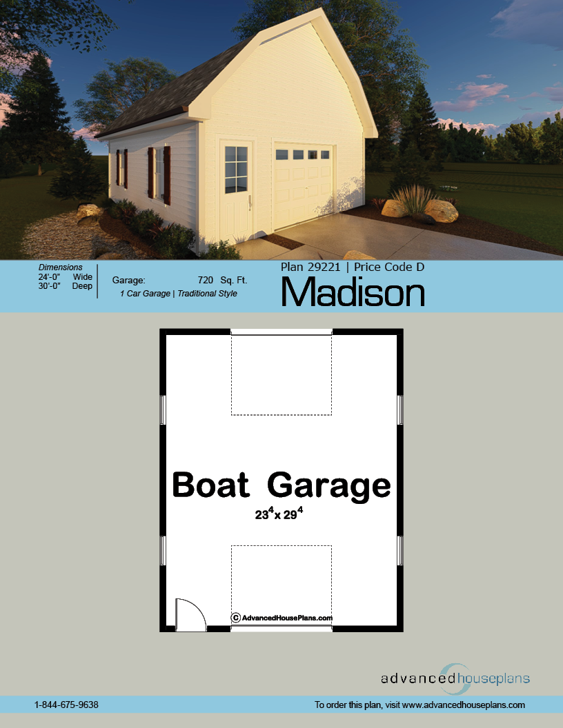 Madison Garage Farmhouse House Plan | Garage Plans | Garage Plans
