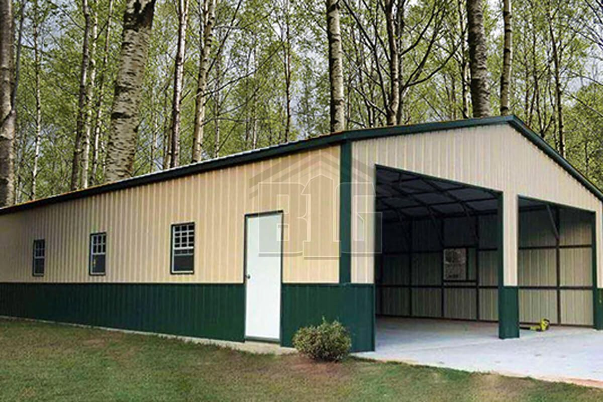 The Captain Garage 28x50x10 In 2019 | Steel House | Metal Storage