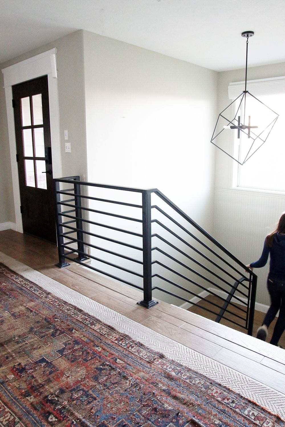All The Details On Our New Horizontal Stair Railing!   Garage