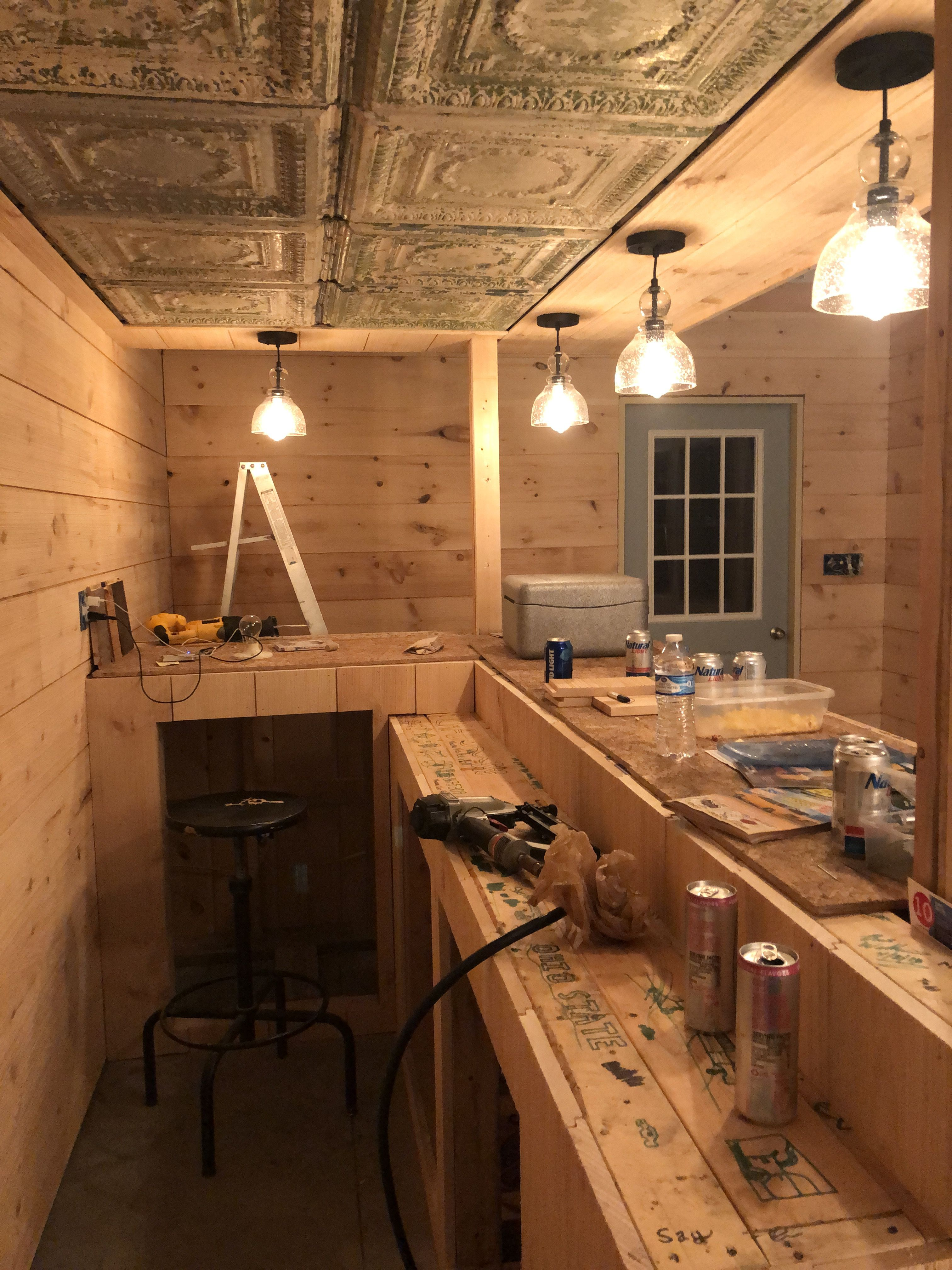 Pin By Chad Wilkins On Building A Bar In My Garage   Built