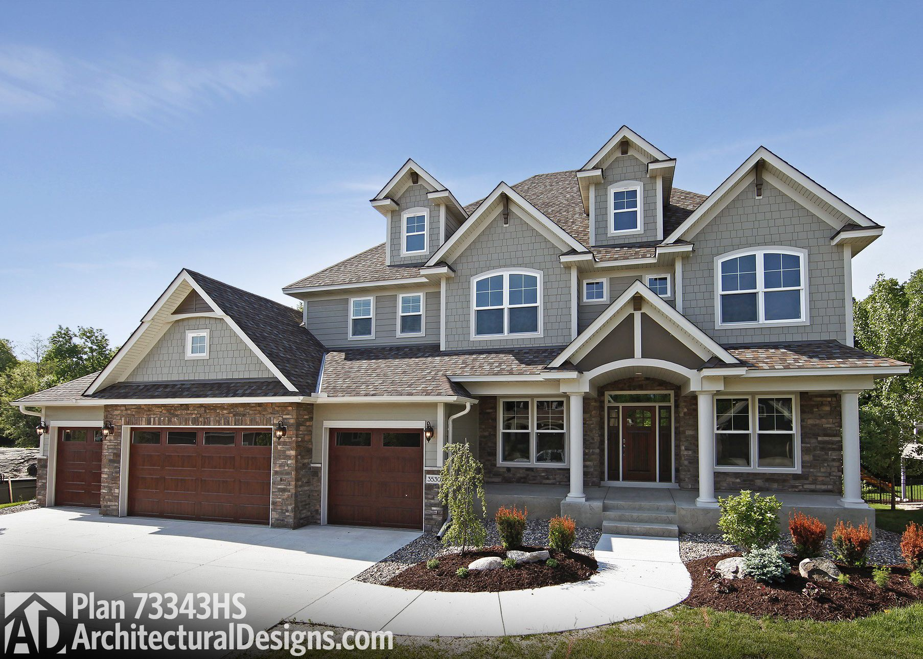Plan 73343hs: Storybook House Plan With 4 Car Garage   For The Home