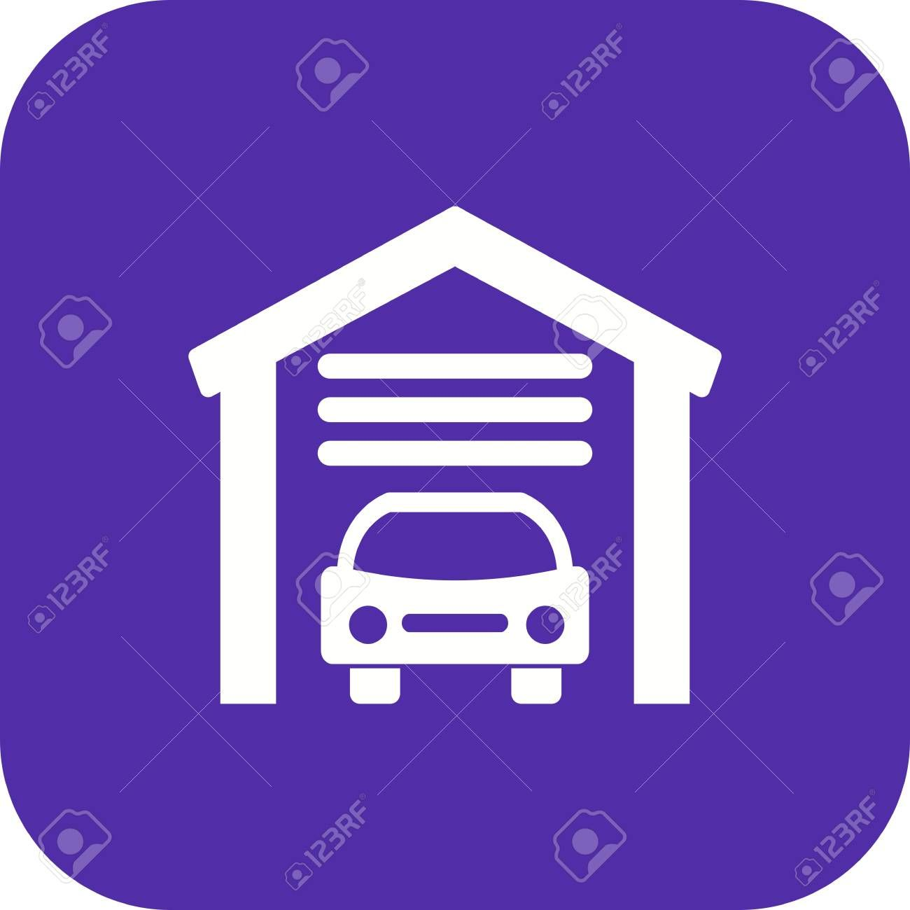 Garage Vector Icon Sign Icon Vector Illustration For