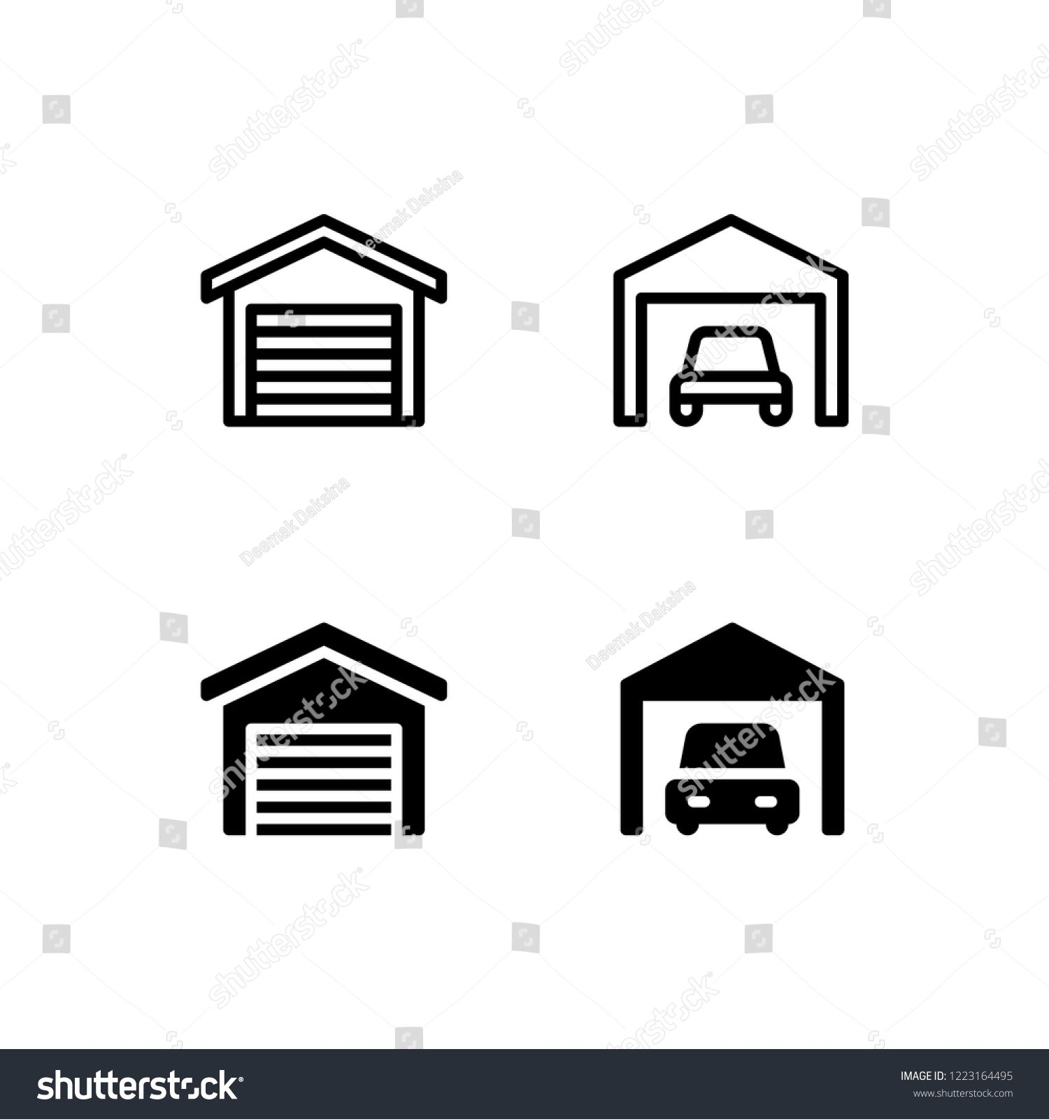 Garage Icon Design Garage, Car, House, Home, Parking, Icon