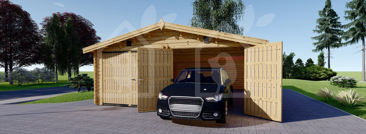 Garage En Bois Hangar 600x900 44mm 54mâ² | Garage En 2019